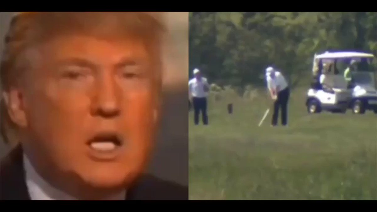 """For him to be playing golf...is very inappropriate."" -Donald Trump"