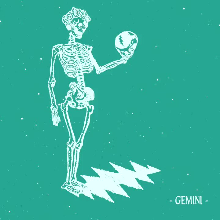 Sweet Delilah Jones, it's high time to salute our Geminis...  Listen to the GRATEFUL DEAD ZODIAC SIGNS: GEMINI playlist now on Spotify→   And learn more about Gemini here→   #GratefulDead #Gemini #Horoscope #Astrology