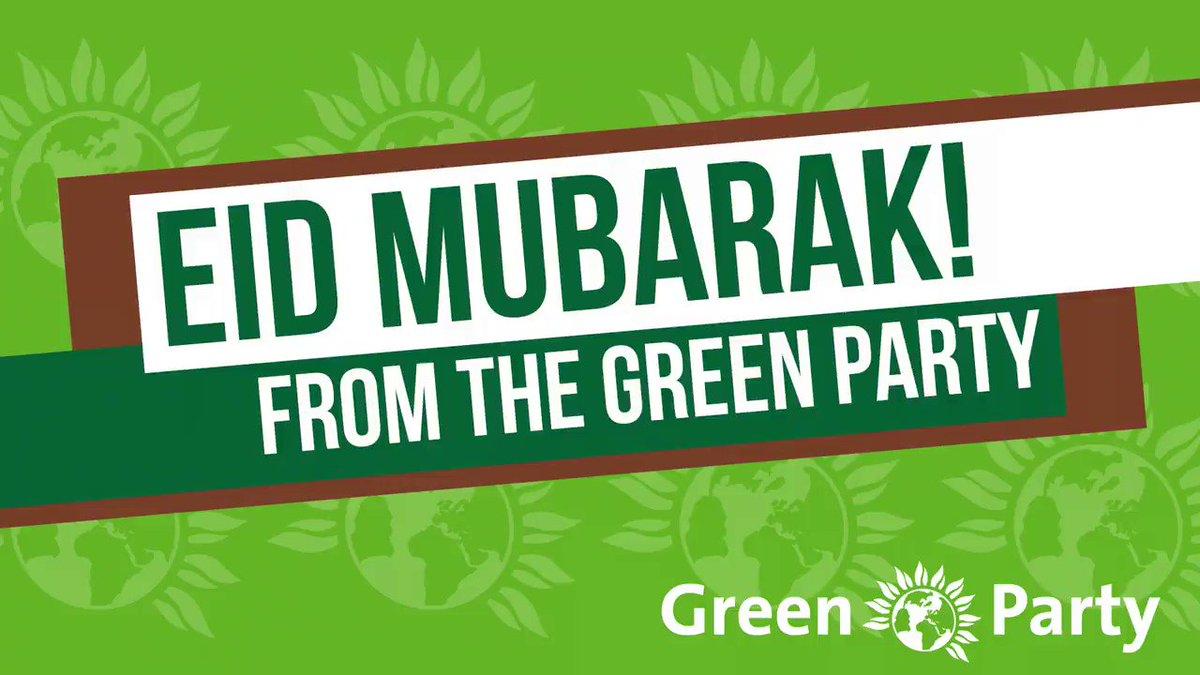 Eid Mubarak from the Green Party! #EidAlFitr #eidmubarak2020 @TheGreenParty