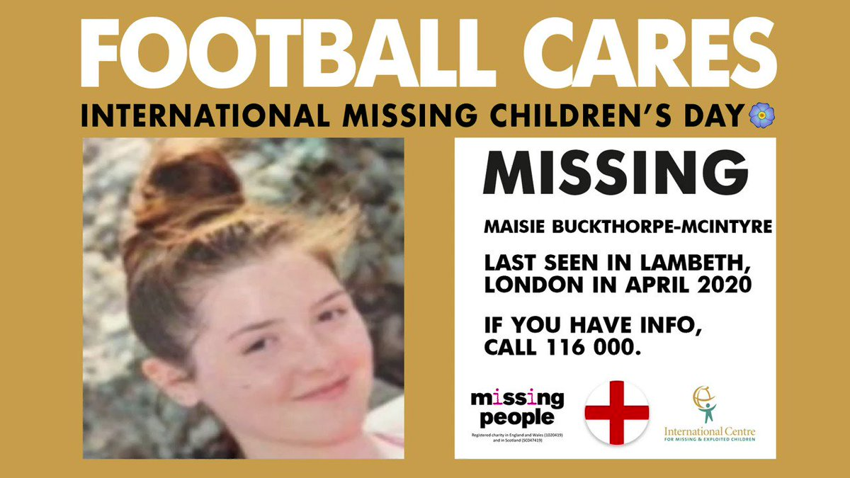 On #InternationalMissingChildrensDay, @missingpeople is proud to be joining the global #FootballCares ⚽ movement as we try to #FindEveryChild ❤️  A child goes missing #Every2Minutes in the UK.  https://t.co/MZekhiFW2g https://t.co/WtbvfJ91SP