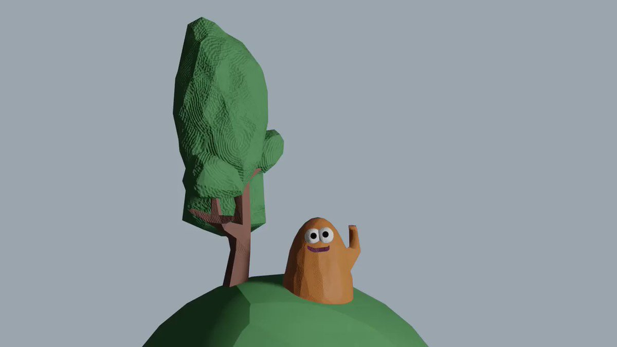 Hi Potato! I wanted to make a passenger for my cab game prototype. #clay #Blender3dpic.twitter.com/gvEDPT9sCo