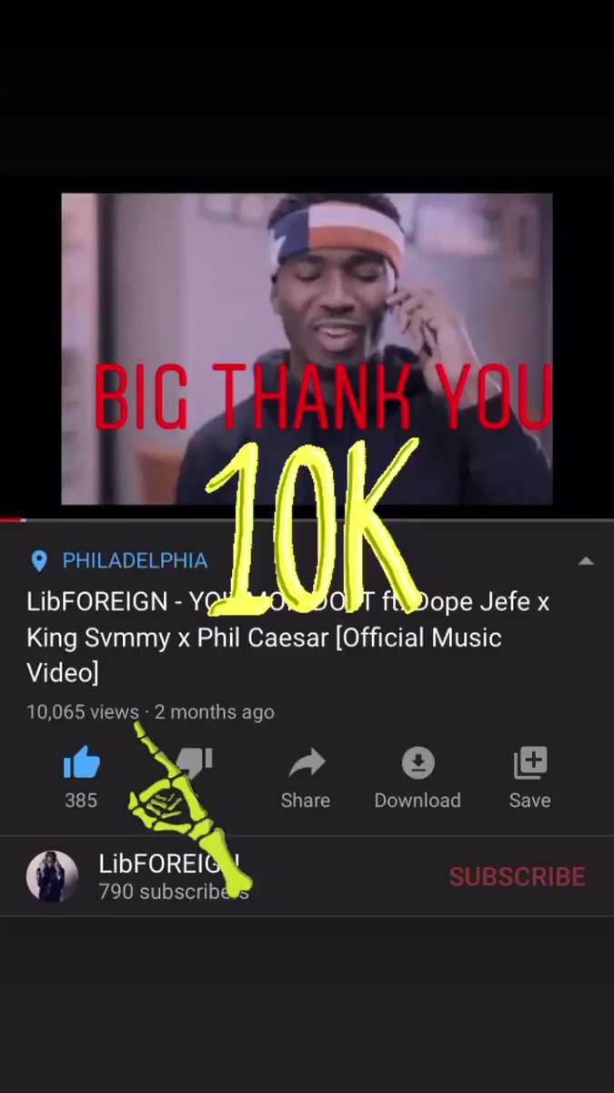 THANK YOU keep running it up I GOT SOME'n for y'all  #10k   https://youtu.be/6KNd7OH-ZHopic.twitter.com/flDCfNBkwr