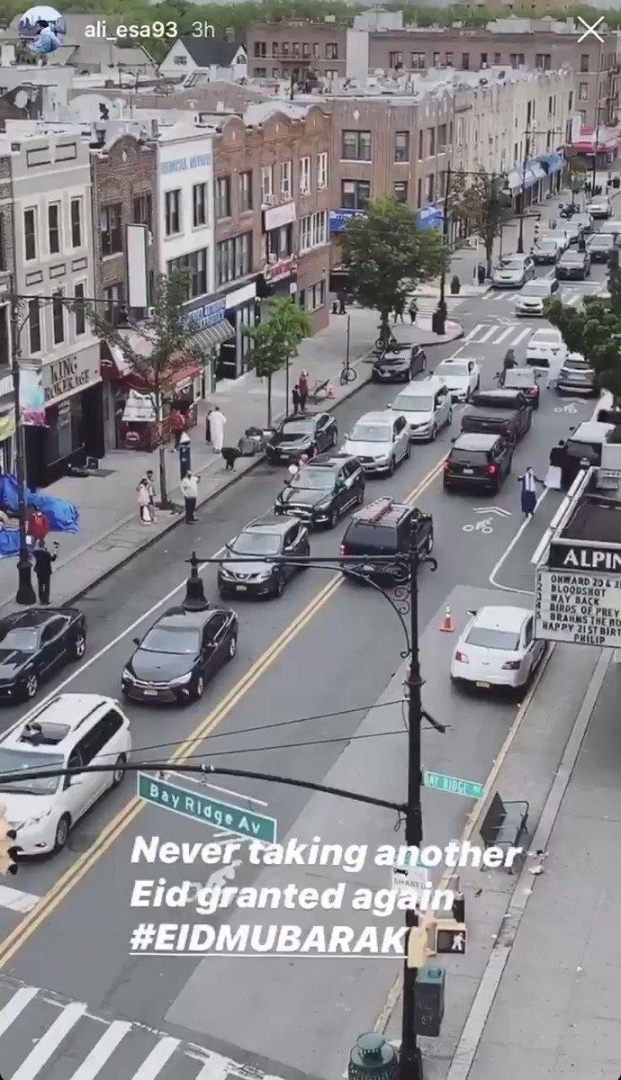 Eid Spirit here in Brooklyn still going strong 😂 love my city #EidMubarak