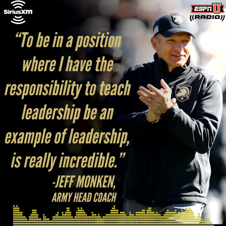 Celebrate #MemorialDay with our Salute to the Service Academies hosted by @Chris_Spatola Today at 6pm ET and on demand on the SiriusXM app. @CoachJeffMonken of @GoArmyWestPoint explained setting aside time to honor & remember the great men & women who serve our country #GoArmy