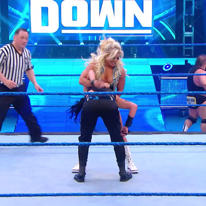 What did you make of @SonyaDevilleWWE & @HEELZiggler's victory on #SmackDown?  #WWEonBT   https://t.co/JWP95Yl7rL