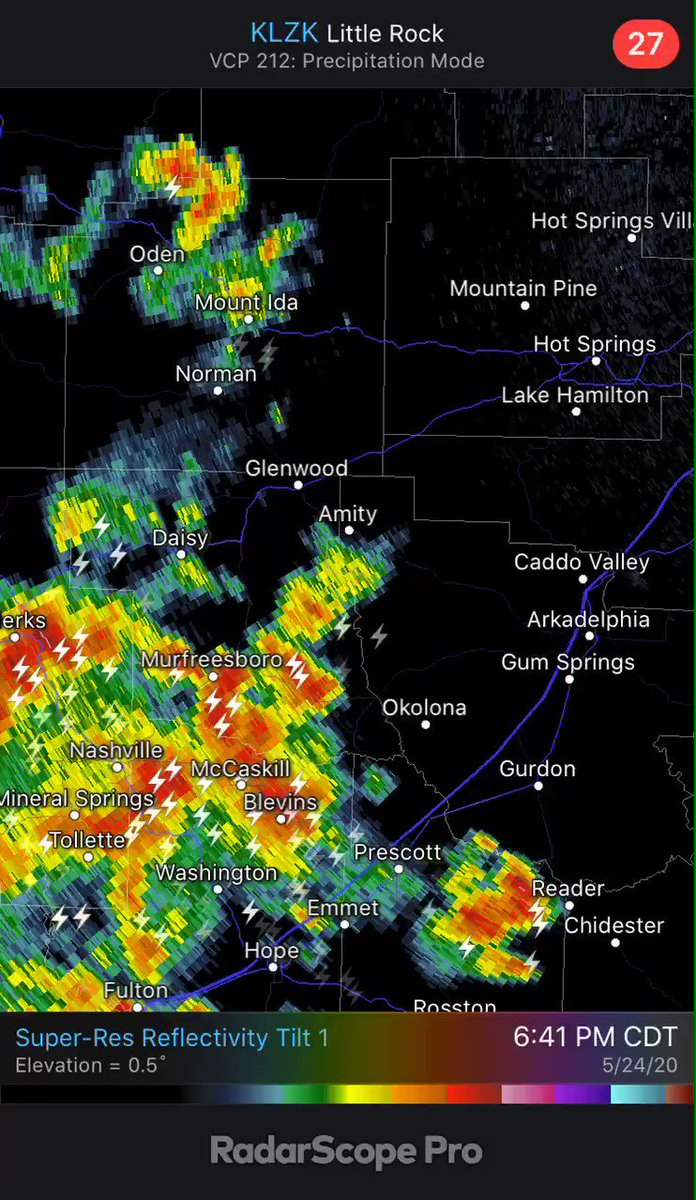 DeGray Lake, Lake Hamilton, and Lake Ouachita, strong storms moving in soon #arwx