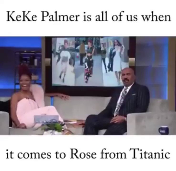 Every time I hear or think about the #Titanic I always think about @KekePalmer's rant on Steve Harvey's show. https://t.co/mNOpwSteHm