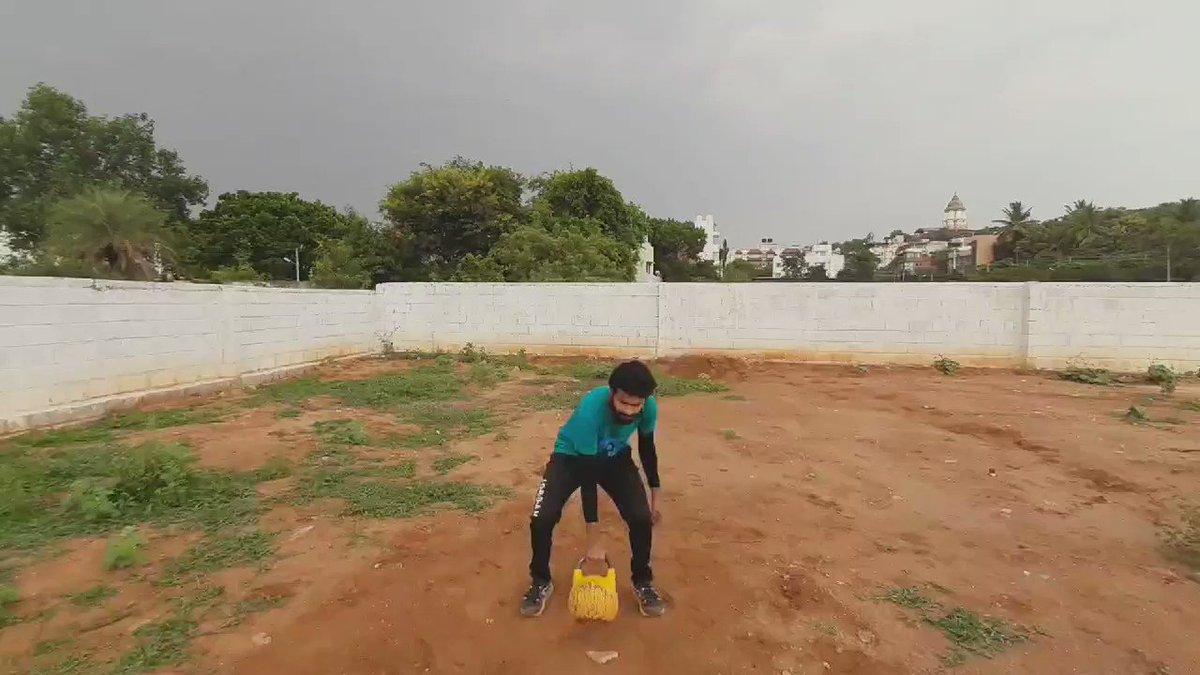 KB F 16kg #Kettlebell . #Staysafe  . #survivor2020 #workout #Kannada #KannadaNews #Karnataka #India #COVID19Pandemic #COVID2019 #COVID #COVID19Bangalore #fitness #AarogyaSetuApp  . #IndiaFightsCOVID19  . Music  Credits - YouTube Librarypic.twitter.com/NMArDietBx – at Bangalore