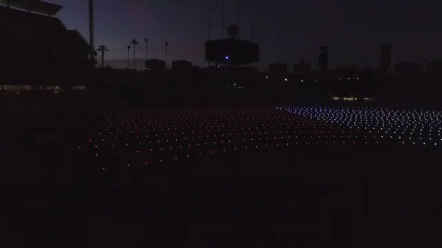 #Dodgers also provided some great footage from inside the stadium. Fallen Heroes Lights display at Dodger Stadium https://t.co/16iXX61a0V