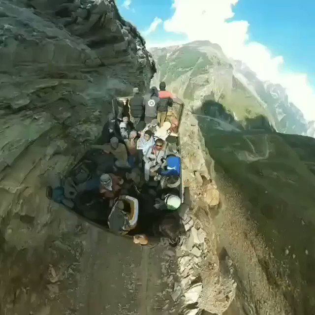 And we complain of bad roads.. While most roads in the Himalayan states are no less scary.