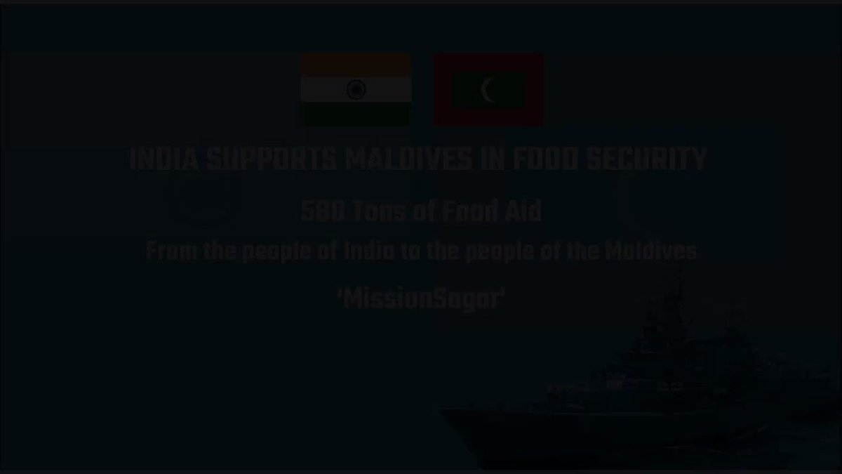 We hope you like our short video on the #Maldives chapter of #MissionSAGAR - Indias helping hand across the #IndianOcean.. #MaldivesIndia @MEAIndia @IndianDiplomacy @indiannavy @IndiaUNNewYork
