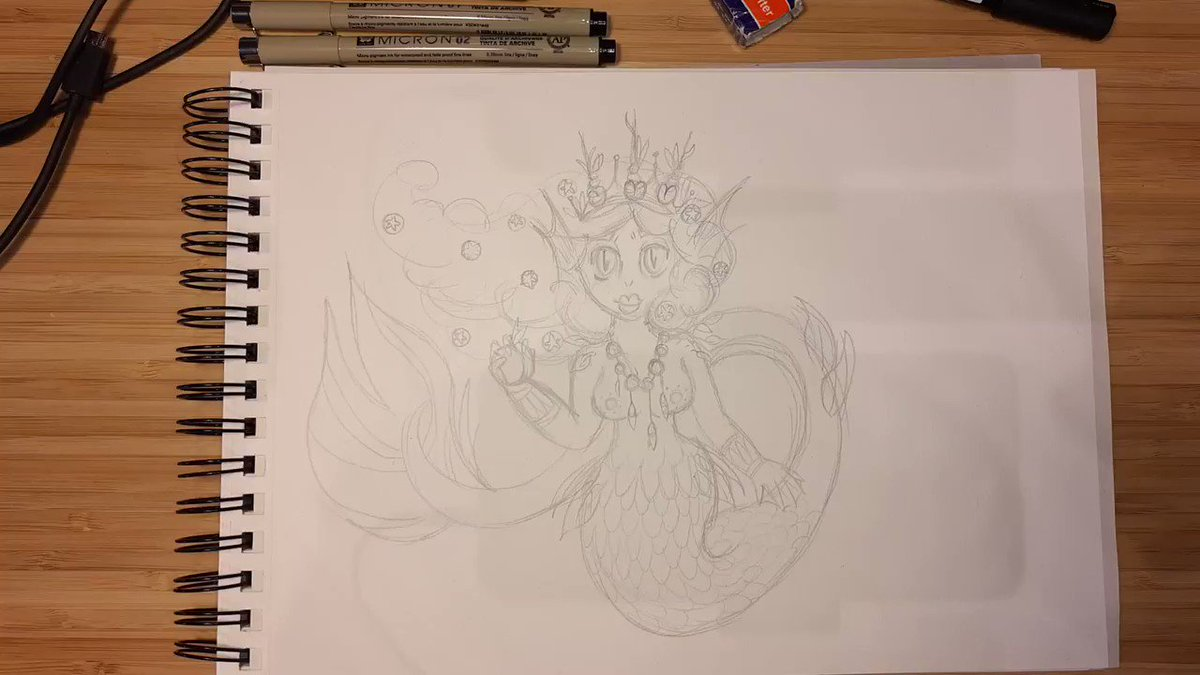 #peach #mermaid timelapse #part1 , follow me for more content  #art #mermay #mermay2020 #drawing #sea #designpill #ChallengeAccepted #challenge #Challenges #Challengeyourself #VIDEO #timelapse #crown #PrincessPeach #Poland #polishwoman #traditionalart #dibujos #instagrampic.twitter.com/MwHFuoMOtC