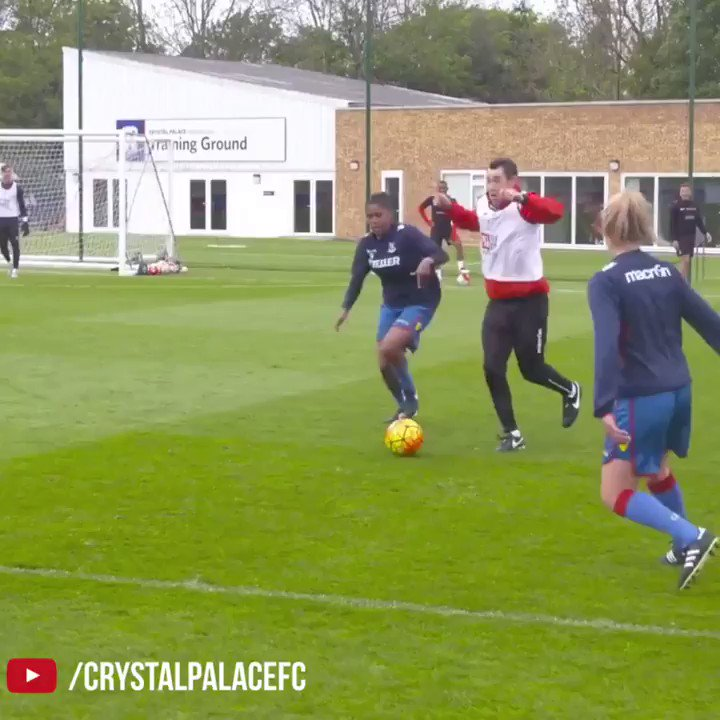 Throwback to when Yannick Bolsie & Wilfried Zaha showed no mercy against the Crystal Palace women's team in training.