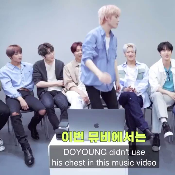 Replying to @jaehyunbom__: TY: I want to compliment Doyoung, he didn't use his chest in this music video JH: 😂😂😂!!!