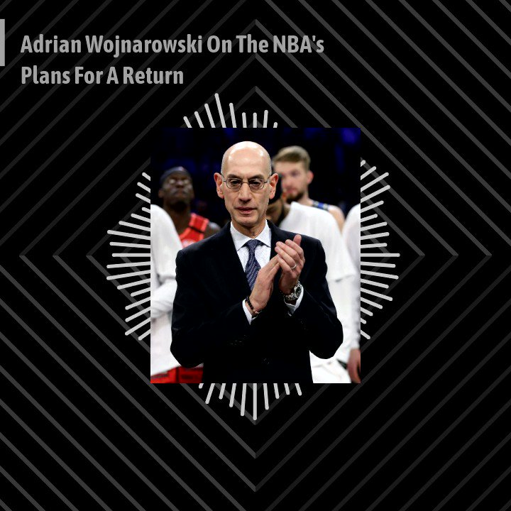 """""""He's going to start making decisions now that are either going to upset people, alienate some groups and make some think 'Hey, that's not fair to us.'"""" -@wojespn on the tough decisions that Adam Silver will have to soon make regarding a return strategy for the NBA."""