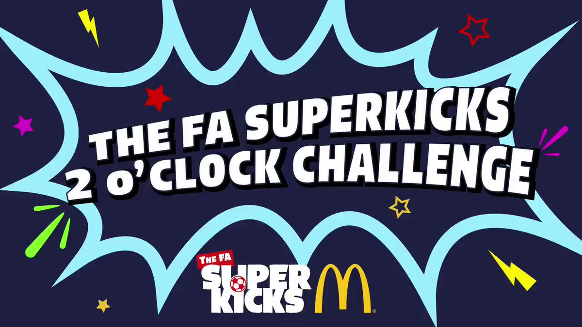 Whos looking forward to another week of #FASuperKicks challenges with McDonalds @FunFootballUK? Youll be up against a parent or sibling today. Heres a look at level one: