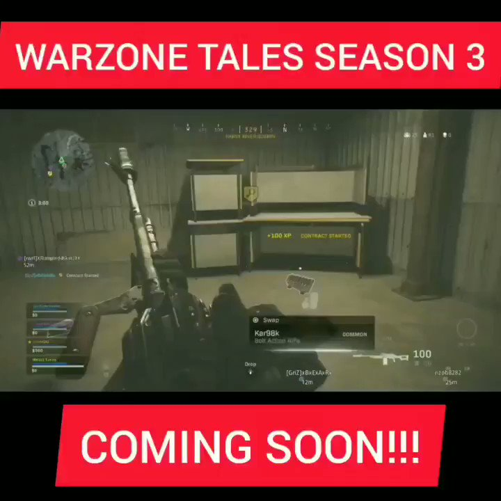 #Warzone Tales Season 3 coming soon! Be sure to check out the other episodes on #YouTube. https://www.youtube.com/channel/UCBju5TpNgaf_Fk31DT2JMLw…pic.twitter.com/eL1dxJgRax