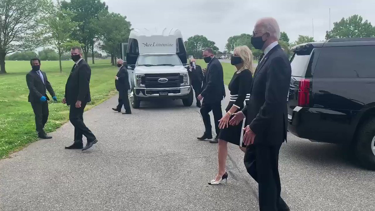 """Before leaving, Biden spoke with General Francis D. Vavala, the retired adjutant general of the Delaware National Guard, and Matt Meyer, the New Castle, Del., County Executive. Meyer to Biden: """"You've got the whole country behind you."""""""