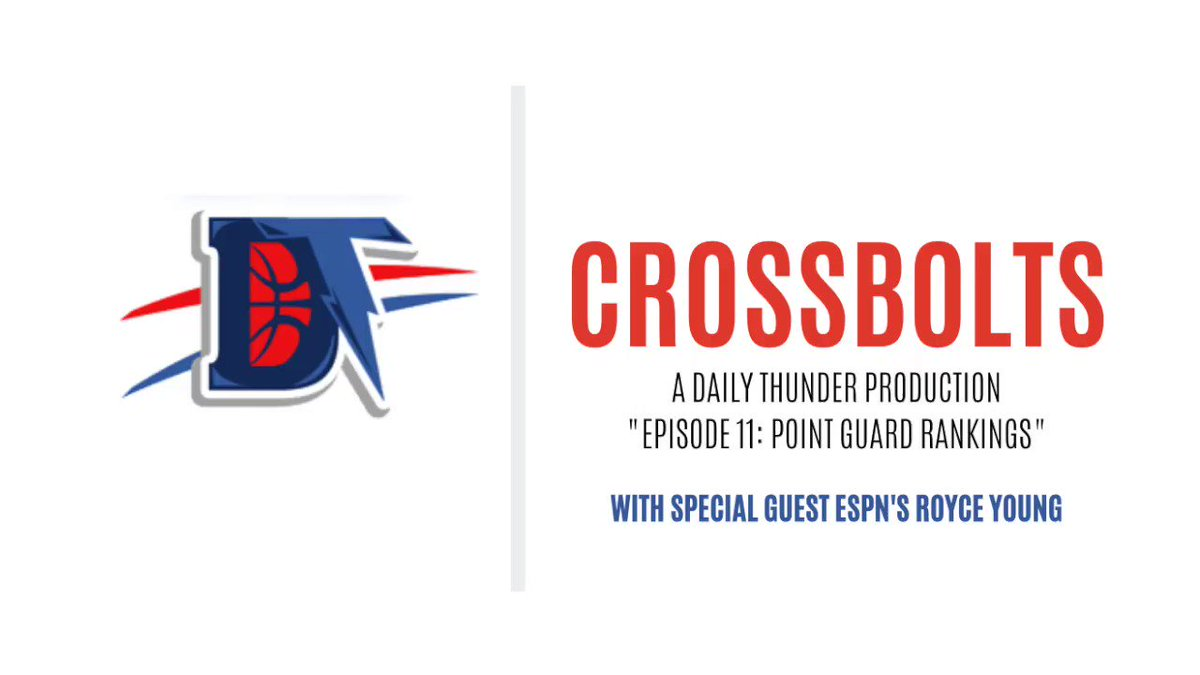 Crossbolts Episode 11: Daily Thunder Beat Reporter @brandonrahbar, Senior Writer @oliviapanchal, and special guest ESPN's @royceyoung rank their top 5 NBA point guards. #ThunderUp https://t.co/yCf8lUFM3k