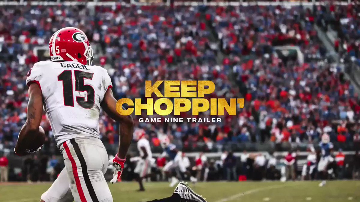 Replying to @GeorgiaFootball: #MondayMotivation | 2019 Game 9 Trailer: Keep Choppin' ⁠ #ATD #GoDawgs
