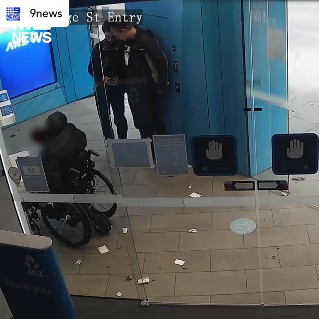 Screw these absolute scumbags robbing this poor guy when using an ATM - if you know these dickheads report them to NSW police