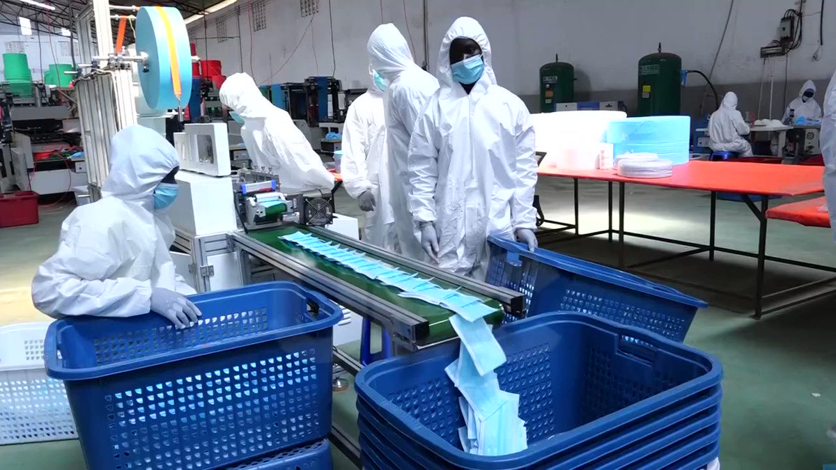 President Museveni will today commission LIDA Packaging Products Ltd, a company manufucting masks and PPE for health workers in Mbalala Mukono. #UBCNEWS