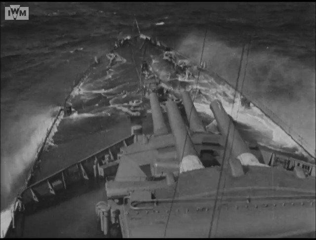 Feeling a little seasick on a Repulse class battle cruiser.