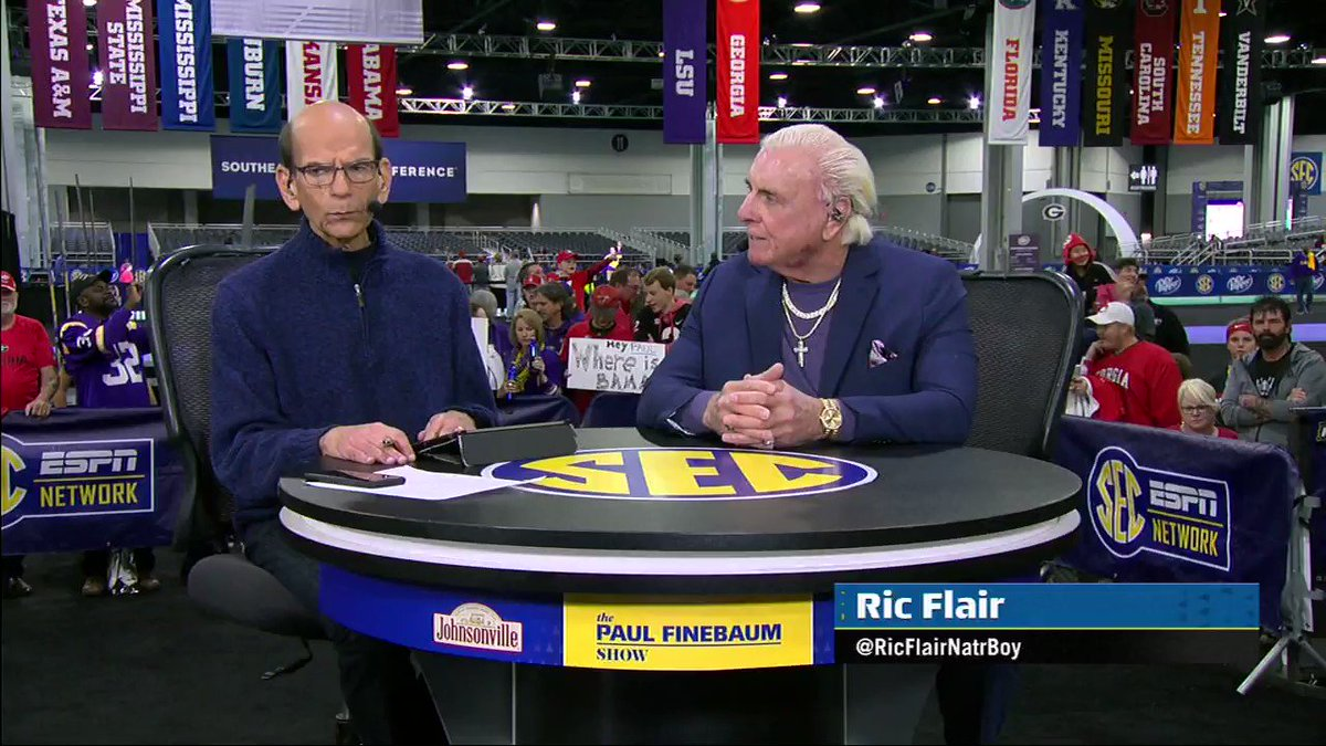 We welcome @RicFlairNatrBoy back to the program today!