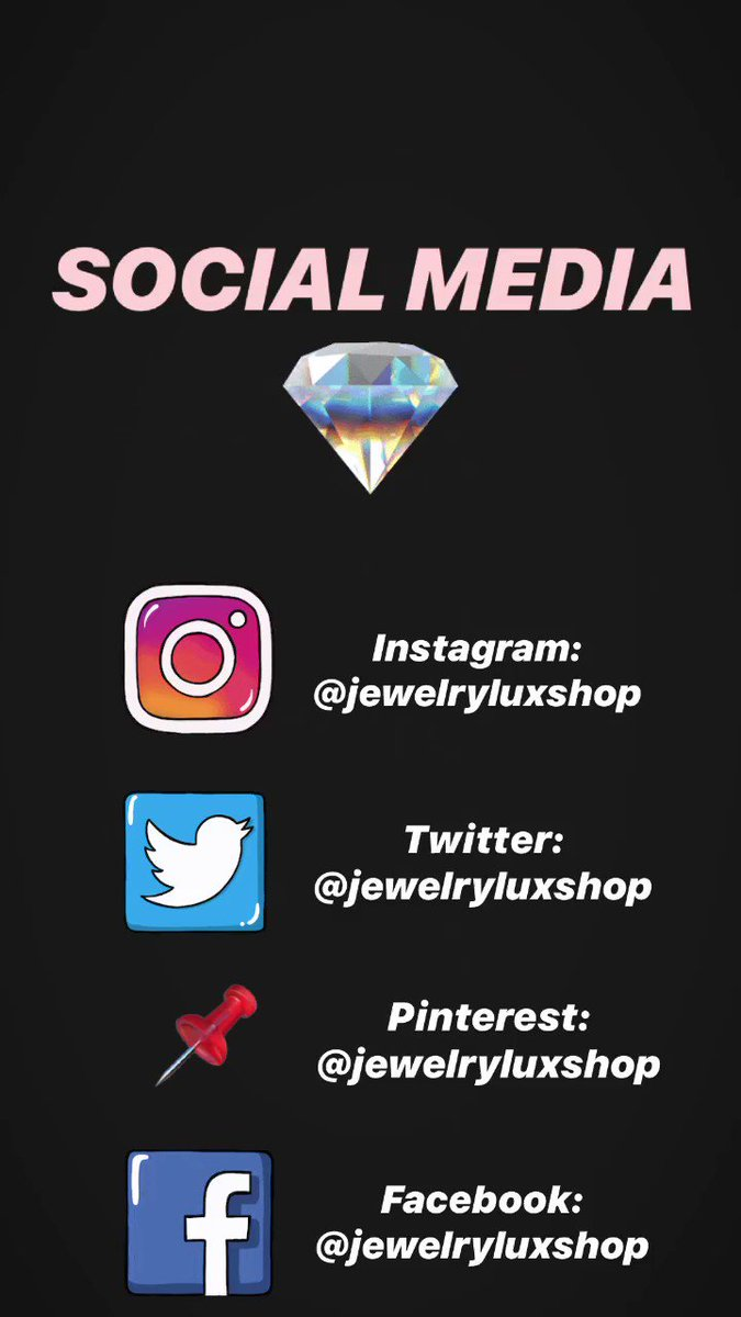 Our social media! Follow us ❤️💎 #jewelry #fashion