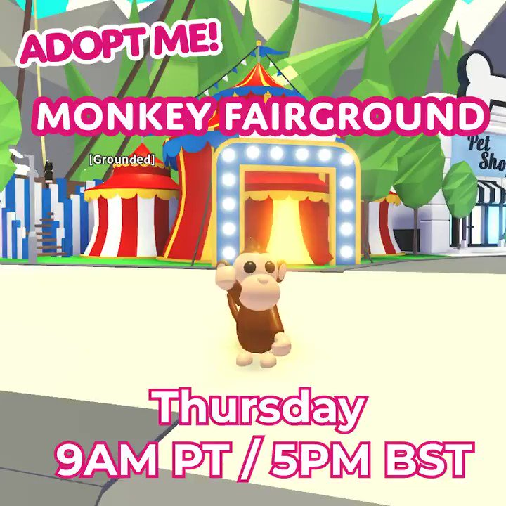 Adopt Me On Twitter Monkey Fairground Is Coming To Adopt Me