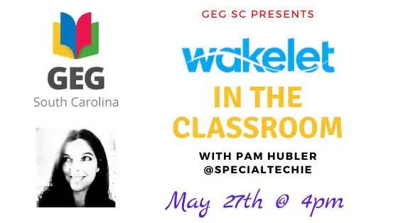 Tomorrow at 4pm we are hosting our first live webinar with @specialtechie about using @wakelet in the classroom! May 27th @ 4pm. Make sure to sign up! The link will be sent out tomorrow at 9am! forms.gle/RqsC5kAnJKja9U…