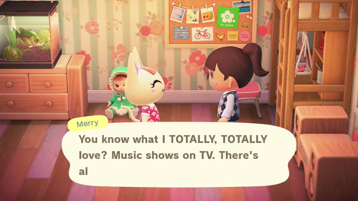 Merry shares her love of music shows. #AnimalCrossing pic.twitter.com/6QikjY5w6A