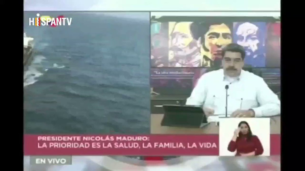 President of Venezuela Maduro: The U.S. government with the Venezuelan terrorist opposition of Guaidó has pursued for over a year the boats and all the imports to produce gasoline in Venezuela.
