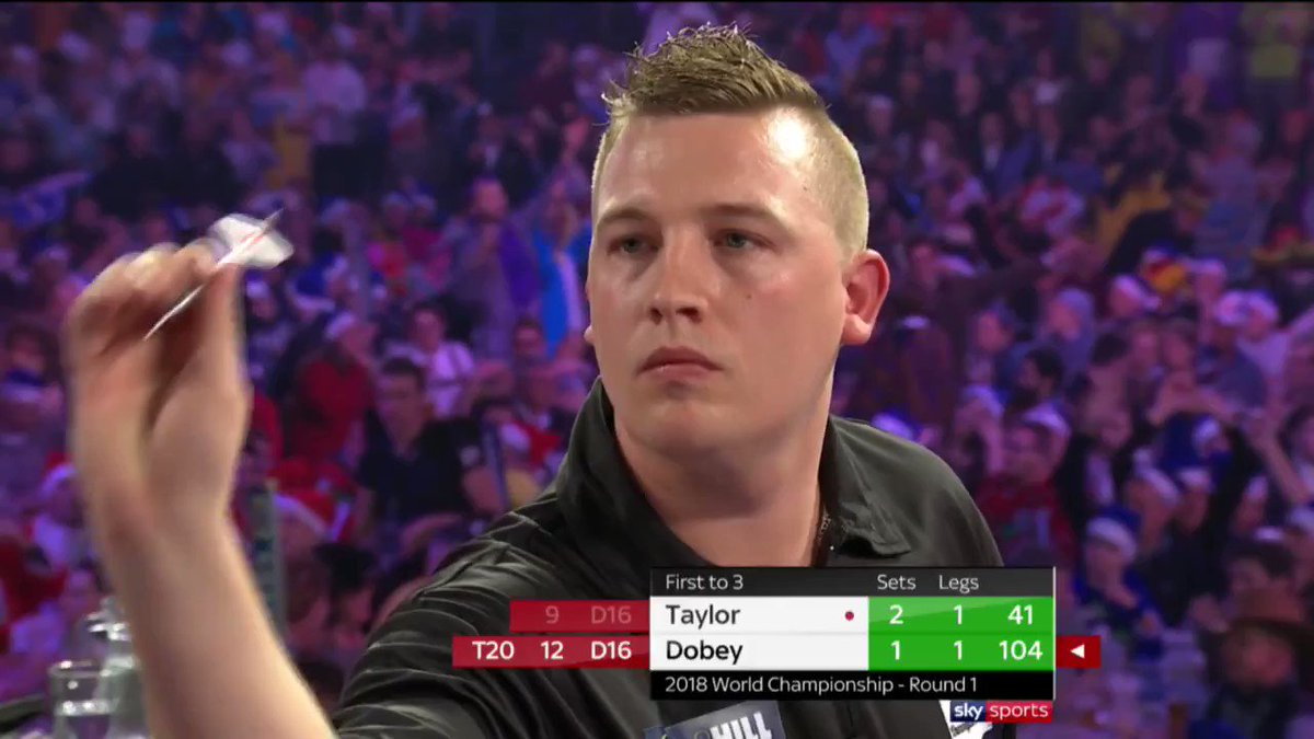 45.61. The aggregate checkout % of @Dobey10 at the @OfficialPDC World Championship 🌍 in the twenty-tens decade, the highest of any player to have thrown at least 100 darts at double in that period 🎯 #dartsdatabase @UnicornDarts 🎥 (All credits to the PDC/Sky Sports ✅)