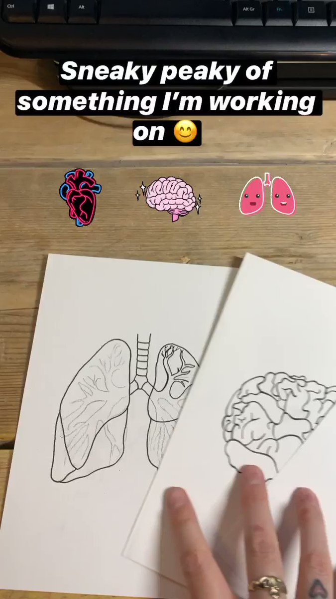 Anatomical drawings commenced... #anatomical #anatomicalart #TrioSeries #blackandwhiteart #IsolationLife #heart #brain #lungs #beat #believe #breathepic.twitter.com/PoEQJ7WAJJ