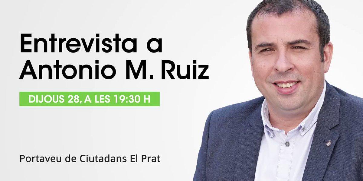Image for the Tweet beginning: El #ContrasenyesElPrat entrevista aquest dijous