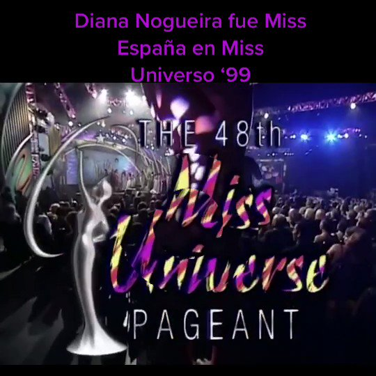 #DianaNogueira @DianaNogueiraTV wearing #EveningGown in #MissUniverse #1999 #pageant. #MissSpain was the best in #EGcompetition. #MissEspaña #desfile #trajeDeNoche.