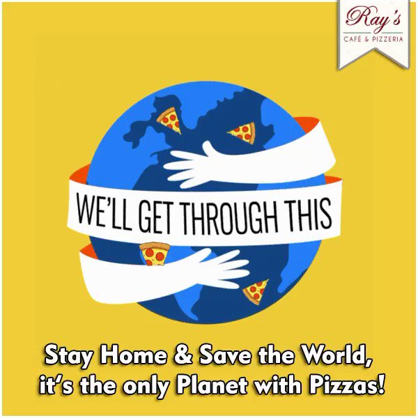 Let's stay home for pizzas  #StayHomeStaySafe #RaysPizza   Order your favorite Ray's pizzas via Zomato , Swiggy and Scootsy  #BandraDiaries #Pizzeria #NewYorkStyle #OrderIn #HomeDelivery #PizzaTime #PizzaLove #SaturdayNight  #PizzaLife #socialdistancing #pizzadelivery #Mumbaipic.twitter.com/YW2rbCKCRP