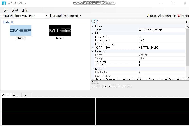Image for the Tweet beginning: ふう、なんとか SN-U110-10(ドラムカード)が #MAmi でエミュレートできるようになった...(おかしかった原因はLA音源部だったんだけど...) かきうち
