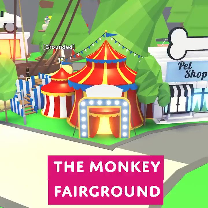 Adopt Me On Twitter The Monkey Fairground Will Be In Town