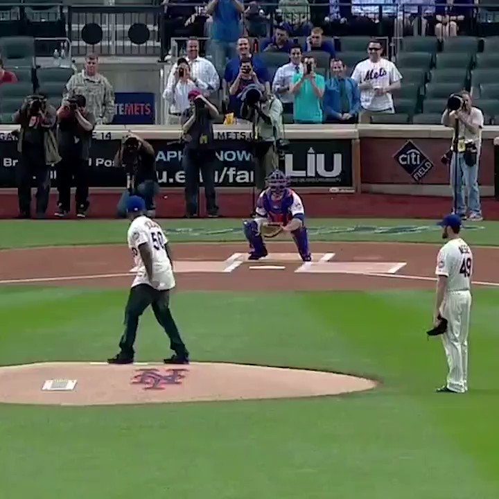 6 years ago today, 50 Cent attempted a first pitch.