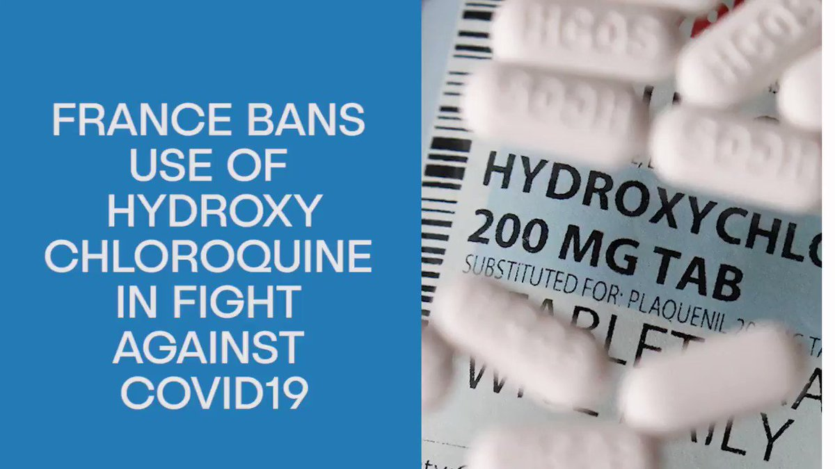 #France bans the use of hydroxychloroquine in the fight against #COVID19.pic.twitter.com/elfZus3k1p