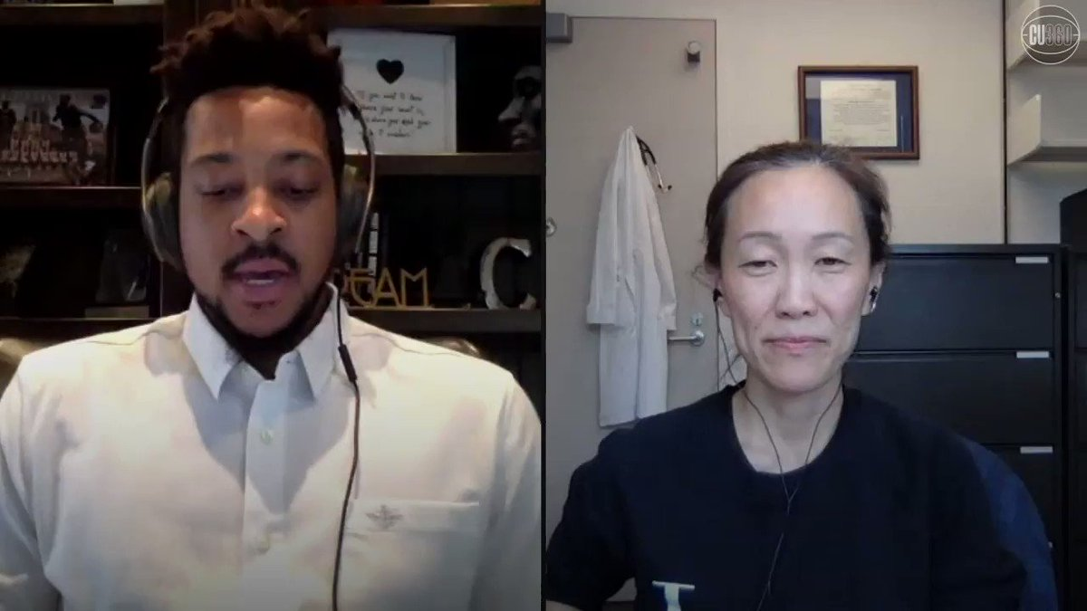 In Hoopers Meet Heroes, Trail Blazers star CJ McCollum spoke with Portland-based ER physician Dr. Esther Choo on co-founding @getusppe for healthcare workers, heartfelt and uplifting moments shes had during the #COVID19 pandemic, and more. Full chat: youtube.com/watch?v=0jRQpt…