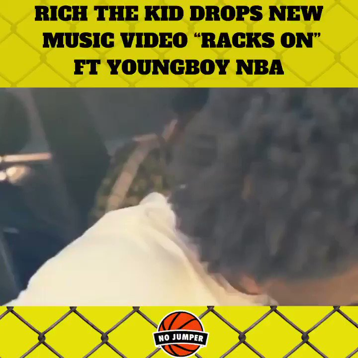"""#Richthekid drops the new music video for """"Racks On"""" ft. #YoungBoyNBA — Is the song 🔥🔥🔥 or nah?"""