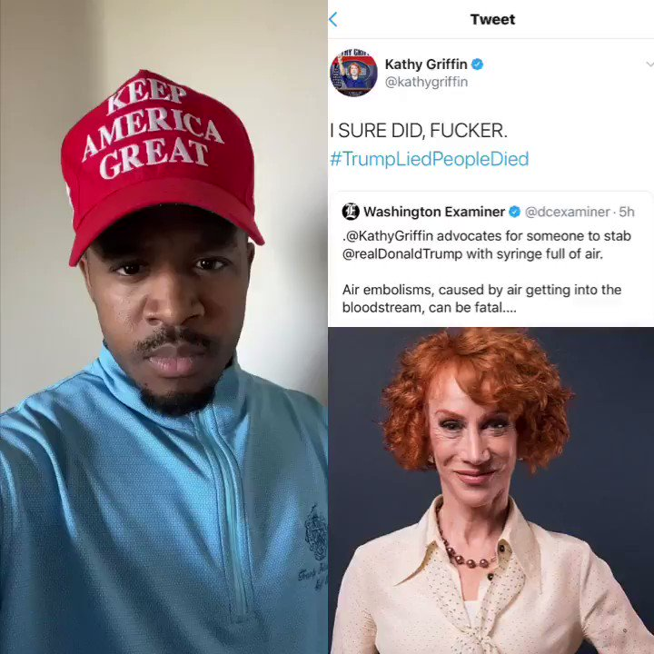 LETS DO THE RIGHT THING! President @realDonaldTrump life has been threatened once again! They want to kill him. We must protect him KATHY GRIFFIN SHOULD BE ARRESTED! If she threatened To kill Obama she would be in jail! RT & USE #ArrestKathyGriffin #ArrestKathyGriffin