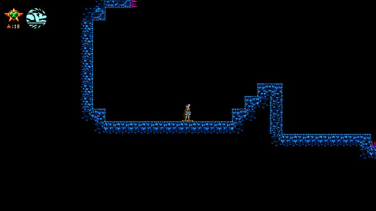 These pesky Squizzlers are pretty agile. #indie #indiedevhour #IndieGameDev  #pixelart #gamedev #walljump  pic.twitter.com/NmKXok9CGr