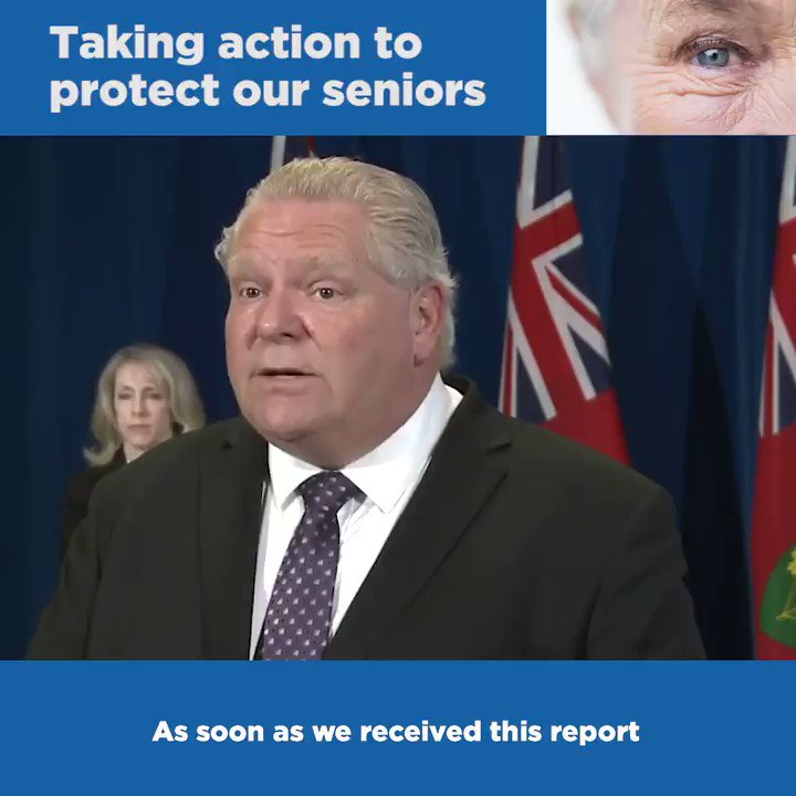 We are taking action in our long-term care homes. Effective immediately we are starting the process of appointing temporary management of 5 homes and launching robust and detailed inspections in high-risk homes across Ontario. We will do whatever it takes to protect our seniors.pic.twitter.com/0nxrdpQoHc