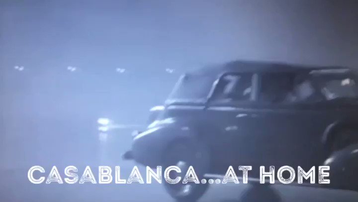 A #covidclassics version of #Casablanca at home. Just me and Humphrey Bogart. Serving my best Ingrid Bergman. #hereslookingatyoucovidpic.twitter.com/hSrVyM7wgX