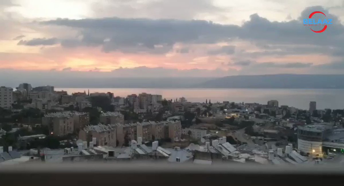 — WATCH IT: Stunning Timelapse footage of sunrise over the Sea of Galilee (Kineret) This morning.pic.twitter.com/e4ujjTbQUo