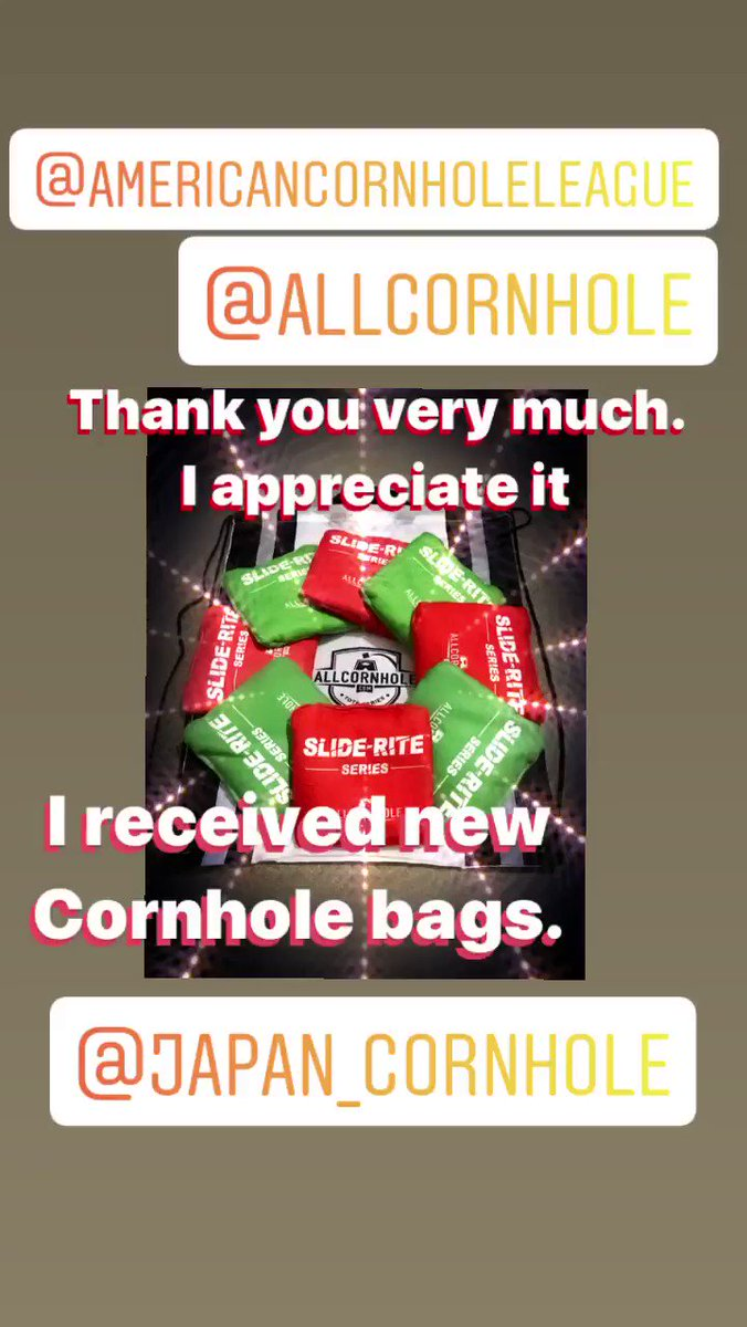 Thank you very much. Thank you for your friendship  #コーンホールゲーム #コーン #cornhole #スポーツ #アメリカから #届いた #ありがとう #ThankYou pic.twitter.com/lyi4byH8fE